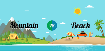 mountain vs beach